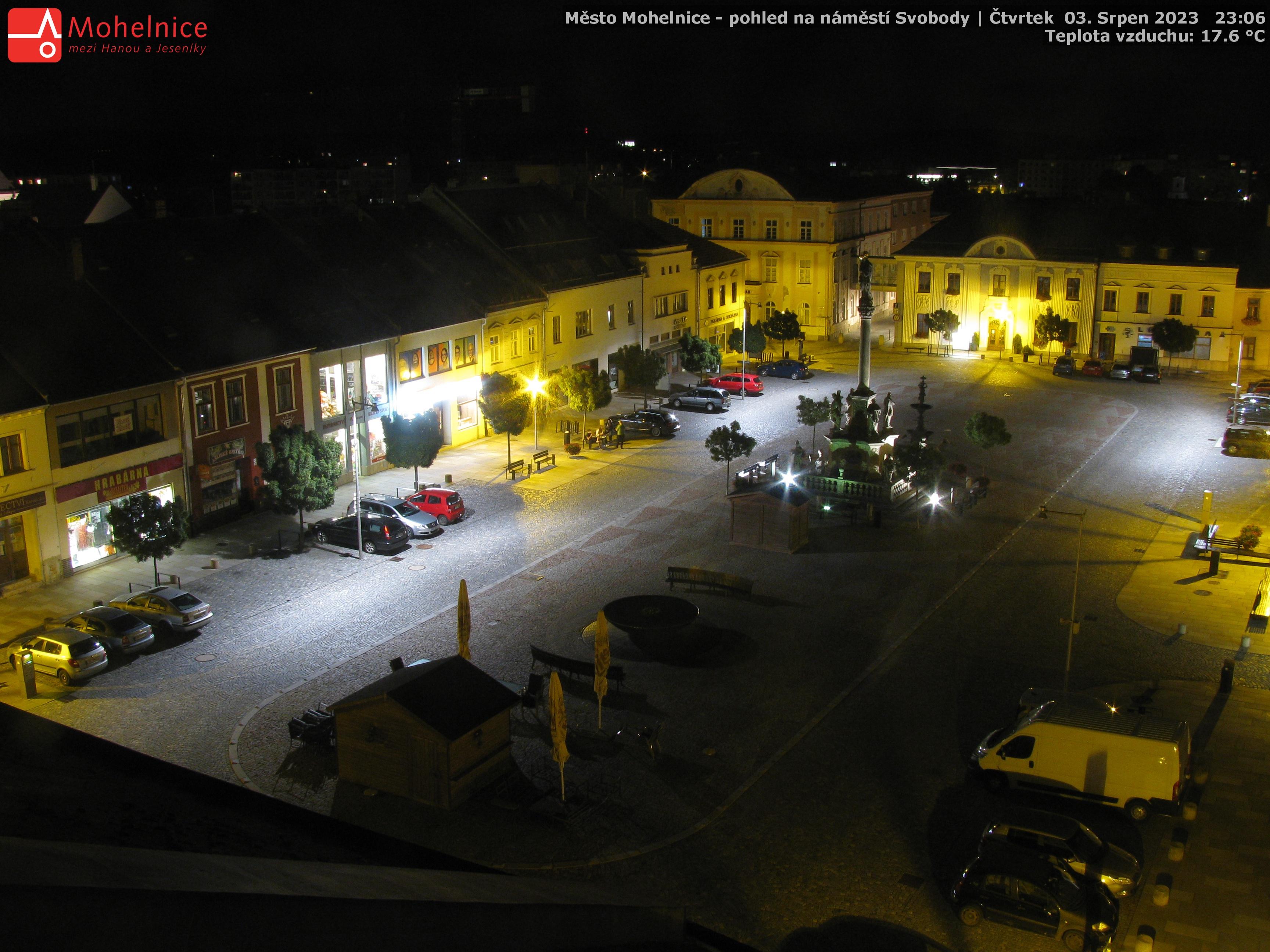 Město Mohelnice - pohled na náměstí Svobody